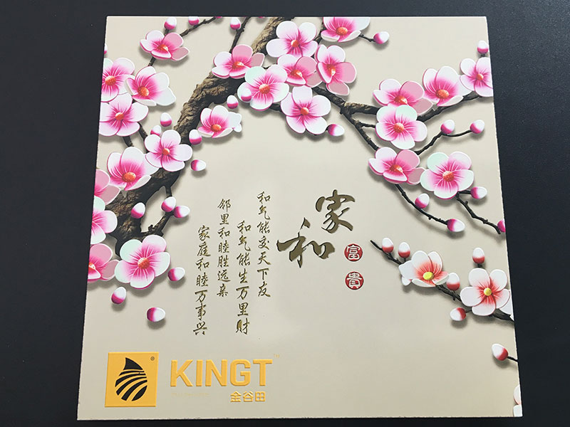 Impresora UV KINGT Impresión en cerámica (efecto de relieve)