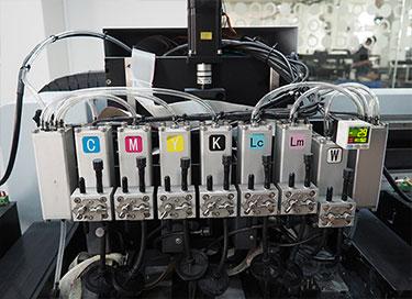 Sistema de tinta de presión negativa dual