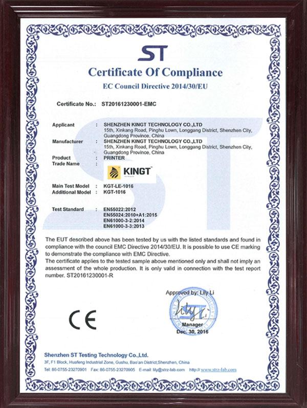Certificado CE 1016